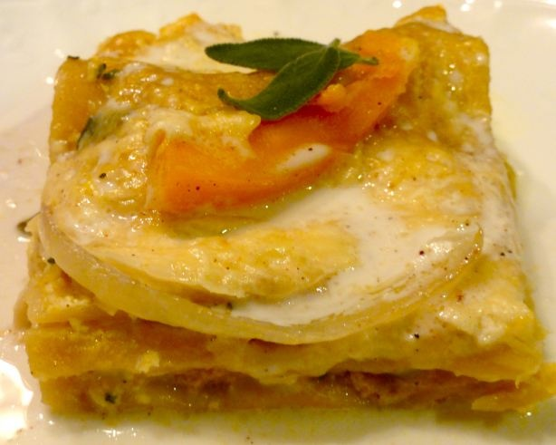 Roasted Butternut Squash And Garlic Lasagna Recipe — Dishmaps