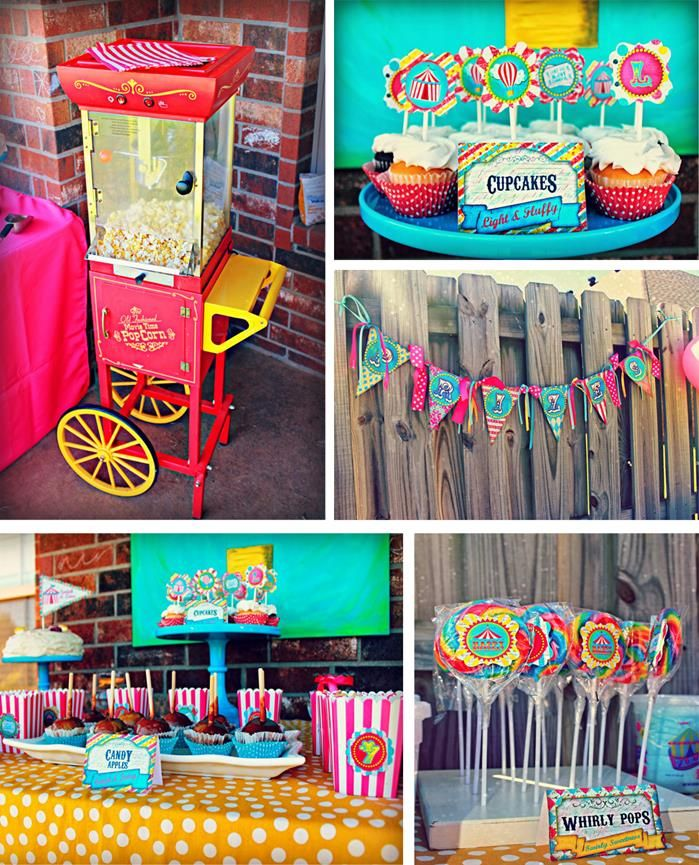 Circus party ideas planning idea carnival supplies decorations - Carnival theme decoration ideas ...