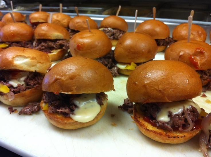 Mini Cheesesteak Sliders!   What's to Eat?   Pinterest