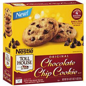 Nestle Toll House Original Chocolate Chip Cookie Kit, 18.875 oz
