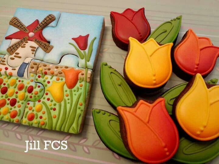 Tulips... awesome cookies | Everything Cakes and Flowers | Pinterest