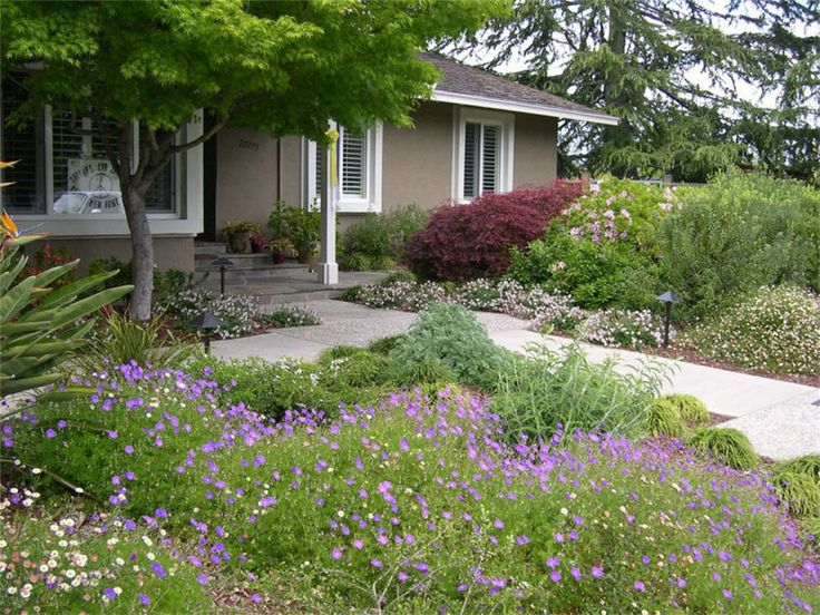 Lawnless front yard garden inspiration pinterest for Front garden inspiration