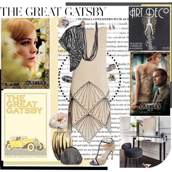 awesome Great Gatsby fashion inspired, art deco outfit, black and ivory