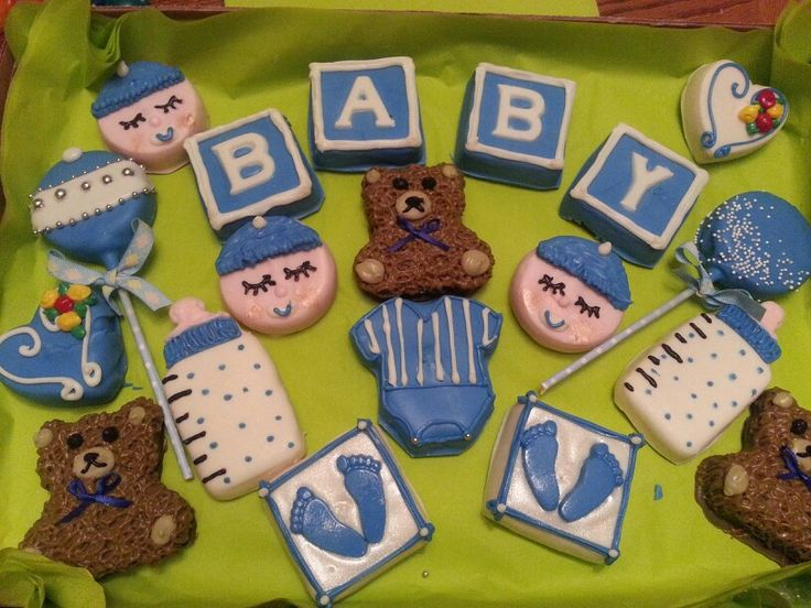 Boy baby shower cake ball's