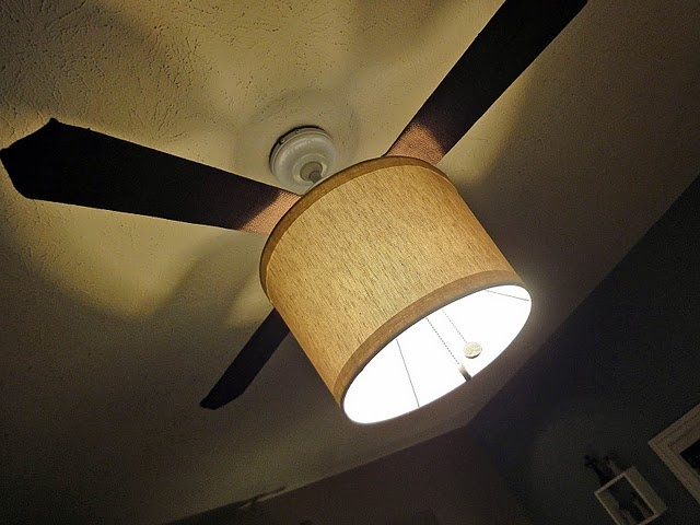 drum shade on a ceiling fan Bright Lights