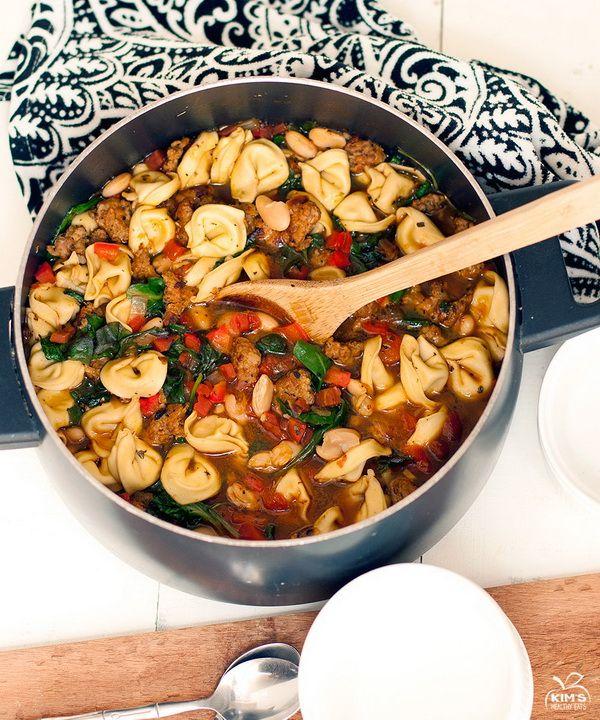 Italian Tortellini Sausage Soup | Cookbook Recipes | Pinterest