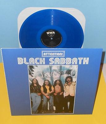 Black sabbath attention volume two lp record blue vinyl ozzy osbour