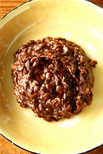 No Bake Cookies.. I love nutella, wonder if you could leave the peanut ...