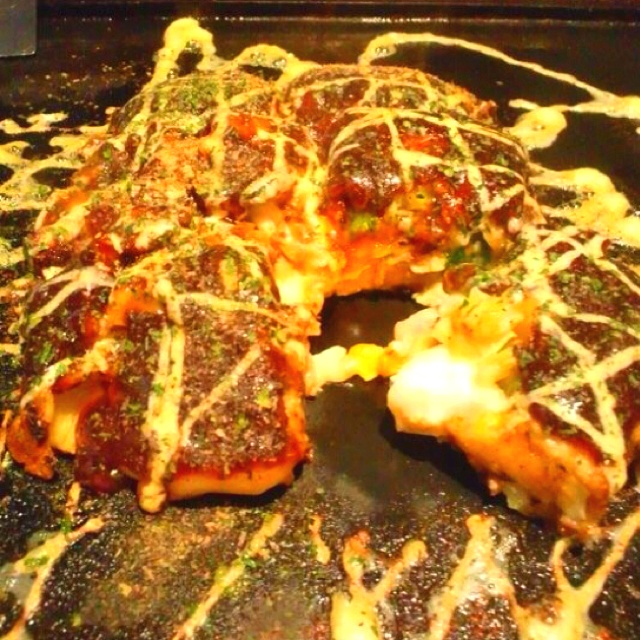 Okonomiyaki (Japanese Pancake) | The Beauty of JAPAN | Pinterest