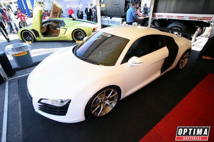 White Audi R8 at #SEMA 2013   Vroom Vroom CARS   Pinterest