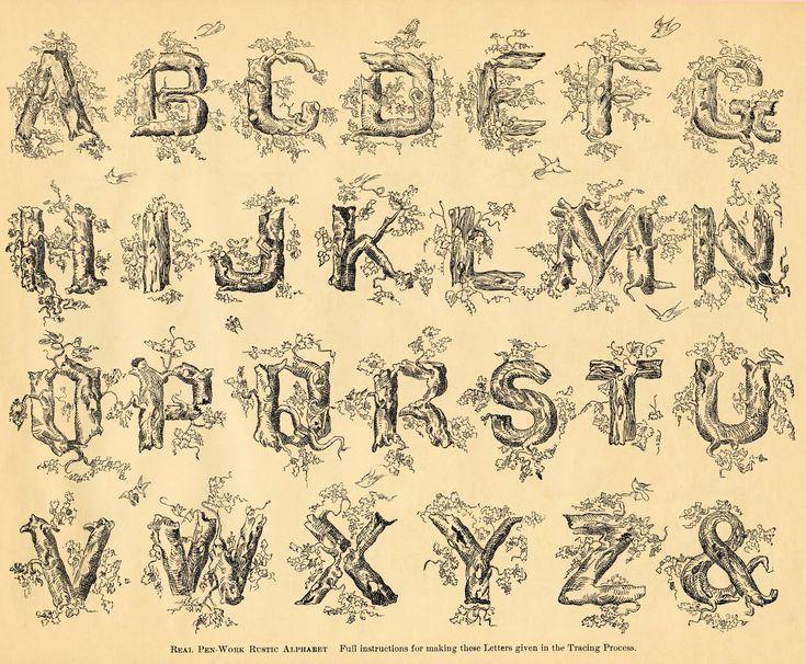 Rustic Victorian Font Tattoos Pinterest