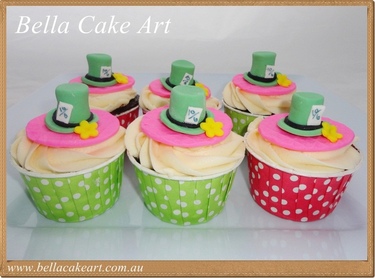 Bella Cake Art Facebook : Mad Hatter cupcakes by Bella Cake Art Cupcakes Pinterest