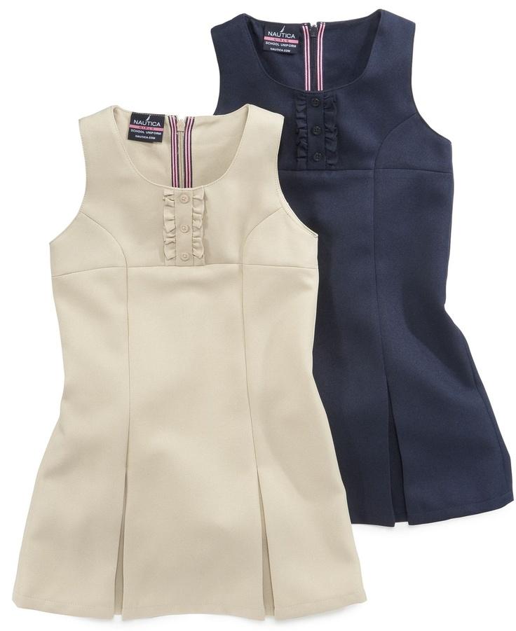 ... Dress, Little Girls Uniform Pleated Jumpers - Kids Girls 2-6X - Macy's
