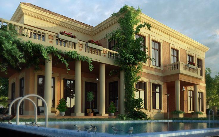 Modern day italian house villa gambe pinterest for Modern day houses