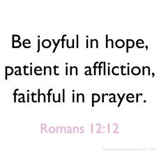 Lord, fill me with Your joy because of my HOPE in YOU