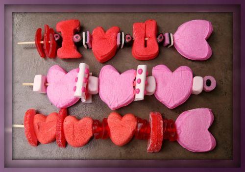 Valentine Peep Kebabs | Valentine Ideas | Pinterest