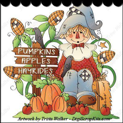 Pumpkins & Hayrides 1 Clip Art Single http://digiscrapkits.com ...