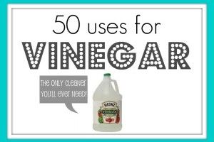50 cleaning uses for vinegar.