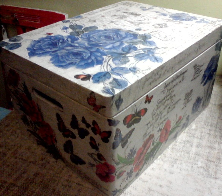 This box i made by decoupage technique