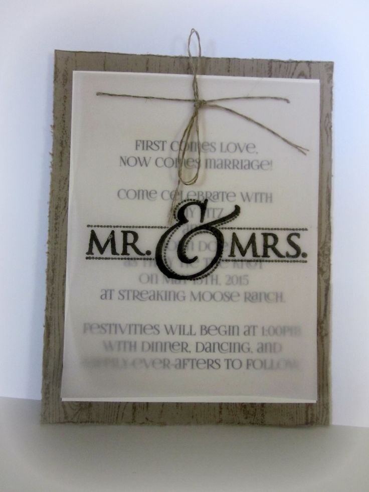 Handmade Wedding Invites Sharing With Morgan Pinterest