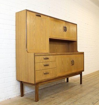 vintage g plan sierra teak highboard tall sideboard 1970s. Black Bedroom Furniture Sets. Home Design Ideas