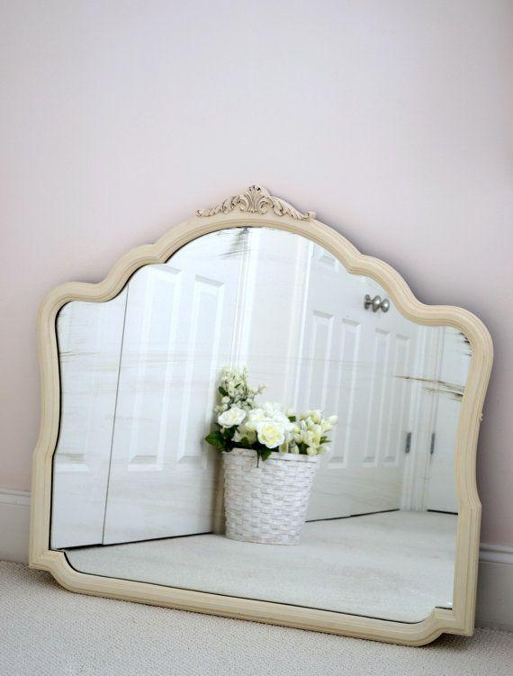 old white vintage shabby chic mirror. Black Bedroom Furniture Sets. Home Design Ideas