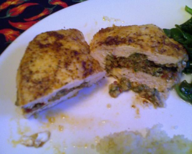 Spicy Stuffed Chicken Breasts from Food.com: These chicken breasts are ...