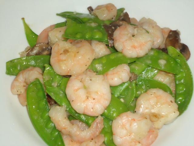 Snow peas, Shrimp and Mushroom Stir Fry | On the Menu @ Tangie's Kitc ...
