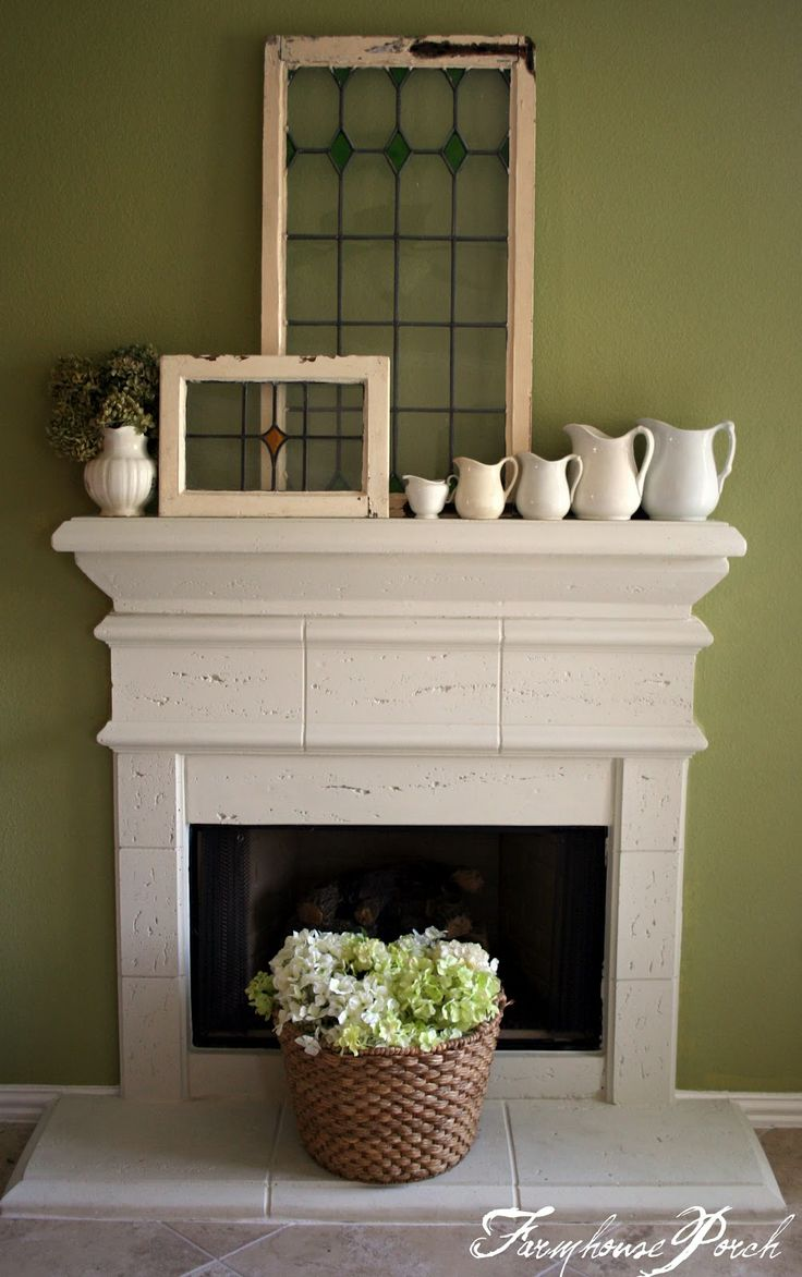the farmhouse porch mantel fireplace