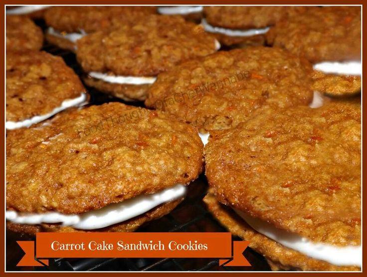 Carrot cake sandwich cookies | Recipes | Pinterest