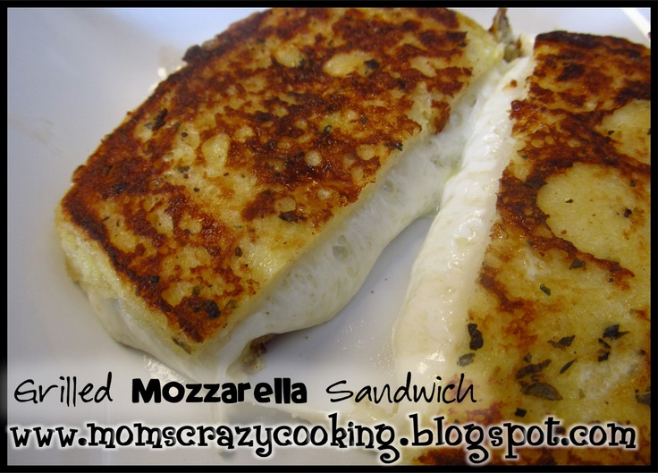 Grilled Mozzarella Sandwich | Sandwiches | Pinterest