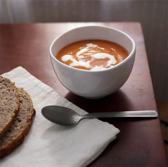 Tomato, Squash & Coconut Milk Bisque (vegan)