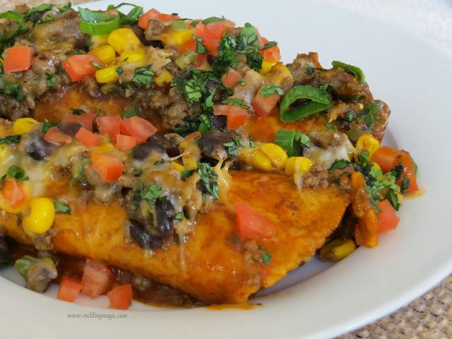 Melding Magic: Loaded Tex-Mex Beef Enchiladas