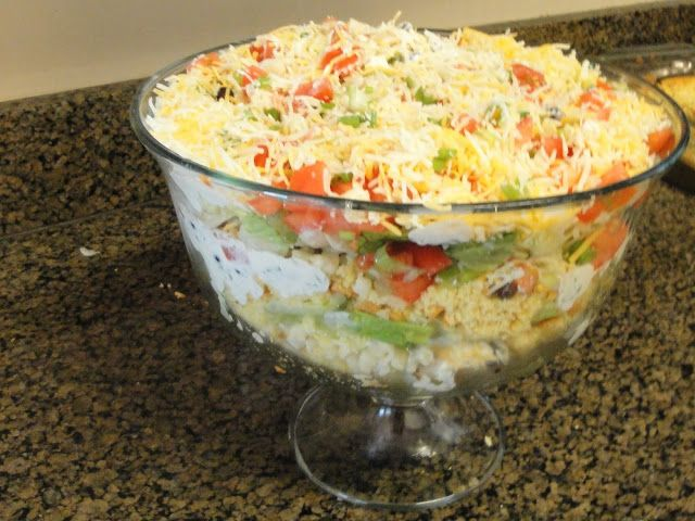 Yes They Are All Ours: Tex Mex Layered Salad