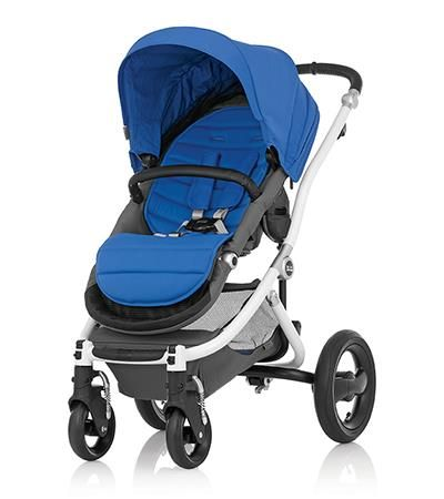 Affinity Stroller by Britax - White base frame with Sky Blue color pack #bold #style