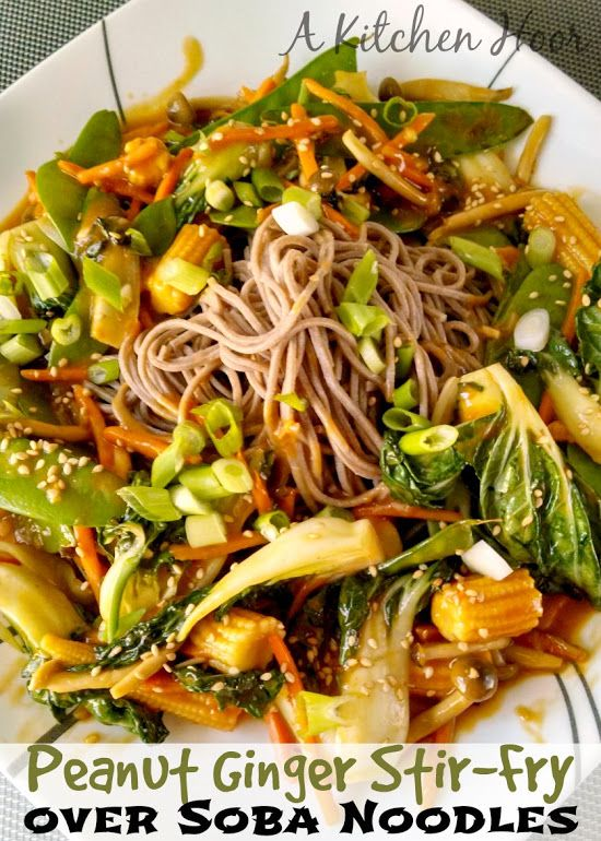 Sesame Orange Chickpeas, Cabbage, And Soba Noodles Recipe — Dishmaps