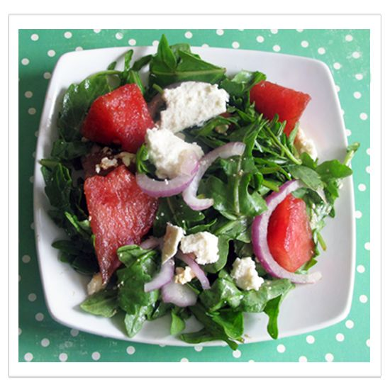 Watermelon Arugula Salad - Fresh Summer Salad