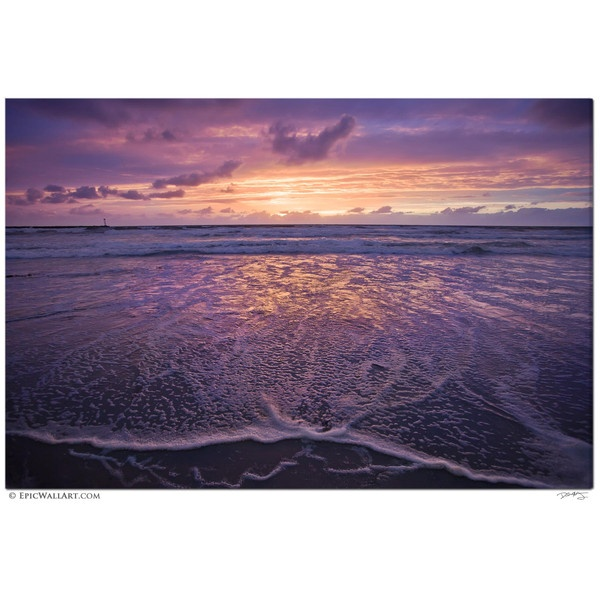 Heavenly Ocean Sunset San Diego Fine Art Gallery Wrapped