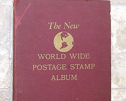 World postage stamp album 1893 to 1957 107 countries 1498 unduplicated