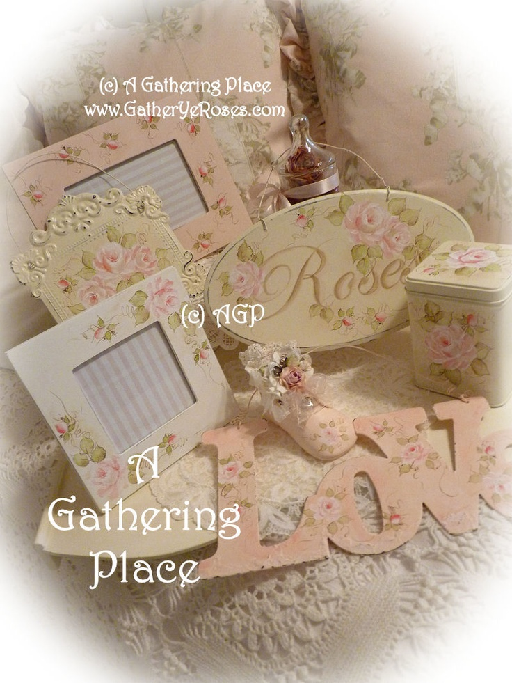 ~~~SHABBY COTTAGE CHIC PAINTED ROSES~~~ What's Coming Up Next
