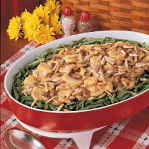 Mushroom Green Bean Casserole (cheese sauce and water chestnuts ...