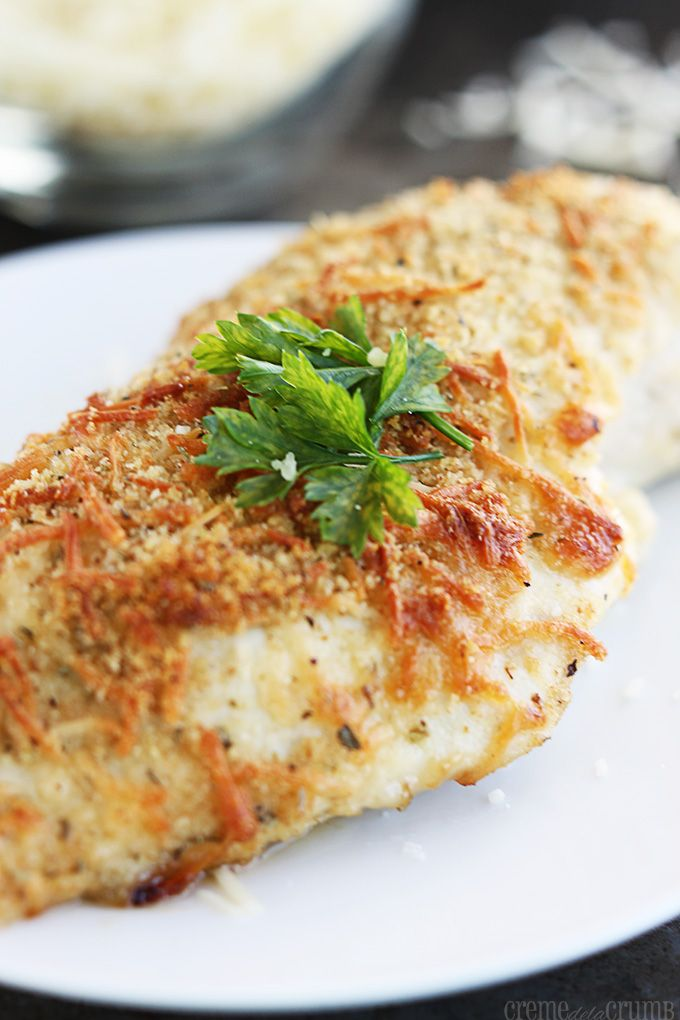 Garlic Parmesan Chicken Recipe ~ Savory baked garlic chicken topped ...