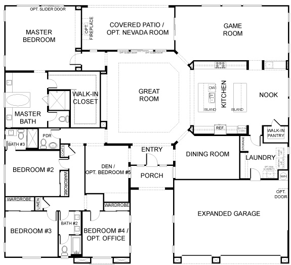 Durango Ranch A 5 Bedroom 1 Story House Plans Pinterest