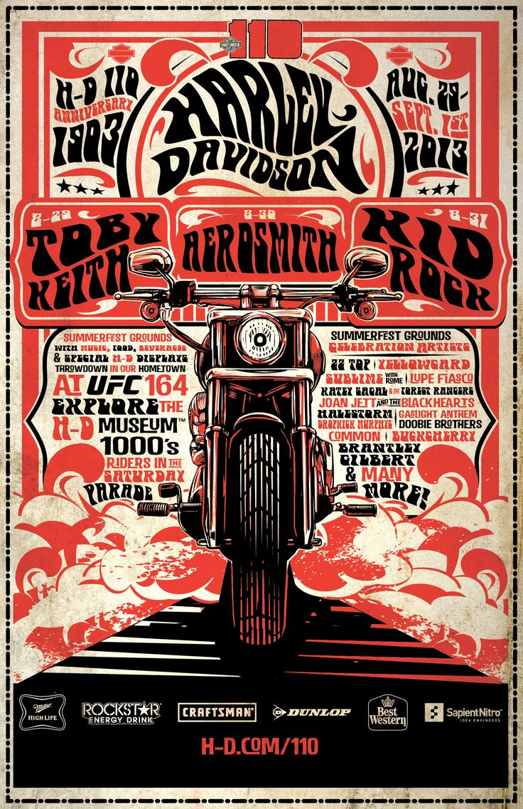 Harley Davidson - Chart | Posters.de