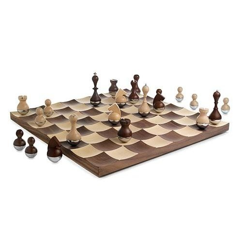 Wobble chess set by umbra dream home media room pinterest - Umbra chess set ...