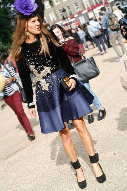 Anna Dello Russo #LFW #streetstyle London Fashion Week