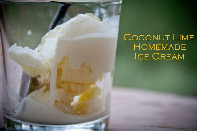 Could it get any better than this?Coconut Lime Homemade Ice Cream.