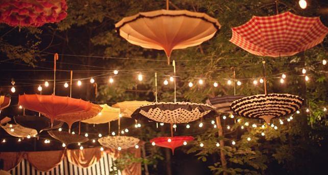 decoración techos bodas