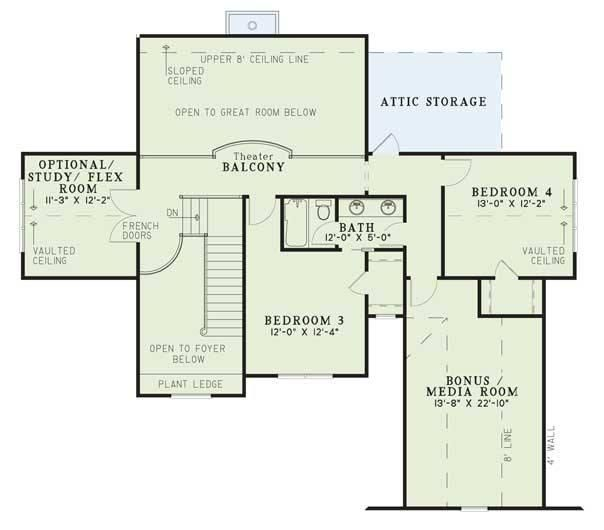 2700 sq ft upstairs house plans pinterest for Upstairs house plans