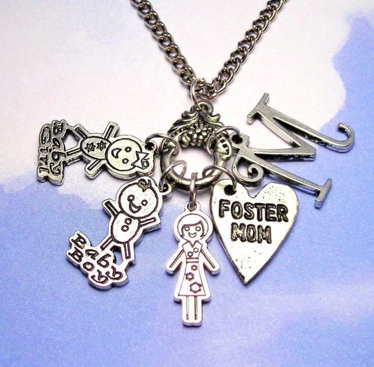 Personalized Foster Mom Charm Necklace $19